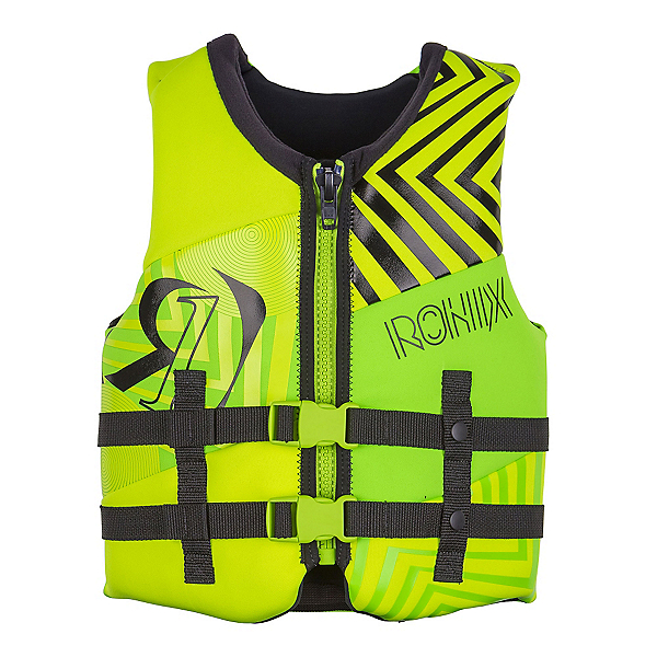 Ronix Vision Youth Junior Life Vest 2018, Lime-Yellow, 600