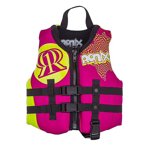 Ronix August Child Toddler Life Vest 2018, Pink-Highlighter, 600