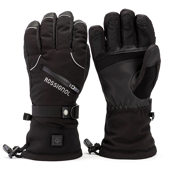 Rossignol Winters Fire Mens Heated Gloves and Mittens, Black, 600