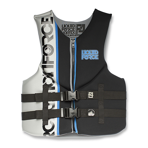 Liquid Force Vortex Adult Life Vest, Black-Silver, 600