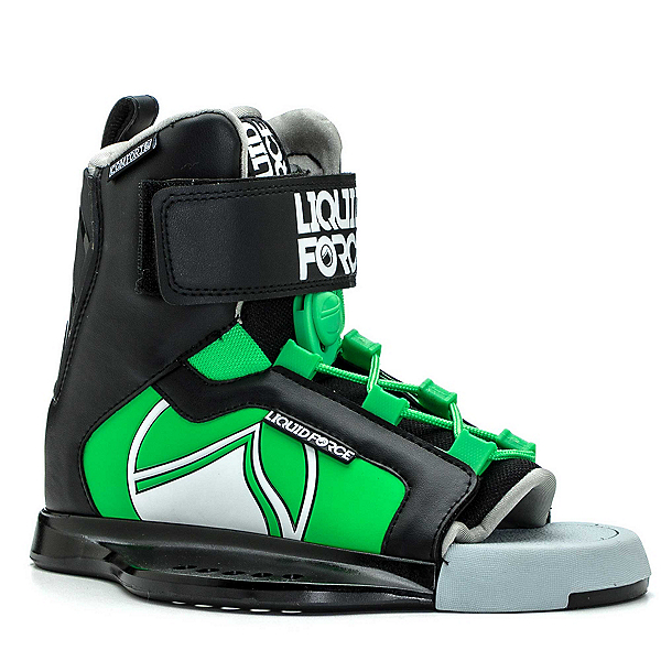Liquid Force Rant Kids Wakeboard Bindings, Black-Green, 600
