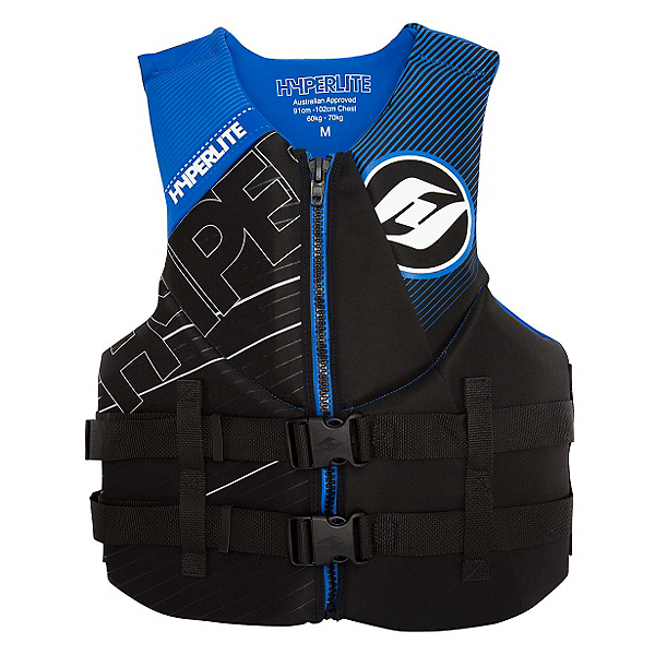 Hyperlite Indy Neo Adult Life Vest 2017, Black-Blue, 600