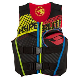 Hyperlite Youth Indy Neo Boys Junior Life Vest, Black-Red, 256