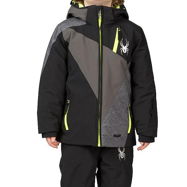 Spyder Mini Enforcer Toddler Ski Jacket, Black-Polar-Polar Wool Print, 600