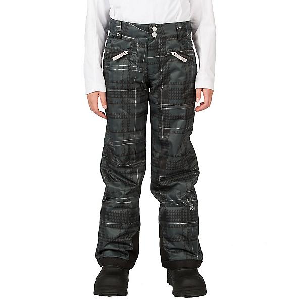 Spyder Vixen Tailored Girls Ski Pants, Black Check Plaid Print, 600