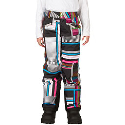 Spyder Vixen Tailored Girls Ski Pants, Black Vybe Print, 256