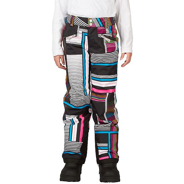Spyder Vixen Tailored Girls Ski Pants, Black Vybe Print, 600