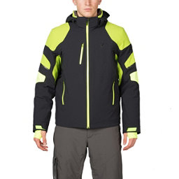 Spyder Verbier Mens Insulated Ski Jacket, Black-Theory Green-Bryte Yello, 256