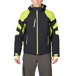 Spyder Verbier Mens Insulated Ski Jacket (Previous Season), Black-Theory Green-Bryte Yello, 256