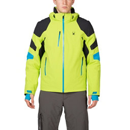 Spyder Verbier Mens Insulated Ski Jacket, Theory Green-Black-Electric Bl, 256