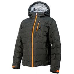 Spyder Impulse Down Mens Insulated Ski Jacket, Polar-Bryte Orange-Cirrus, 256