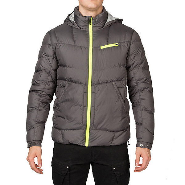 Spyder Stance Hoody Mens Down Jacket, Polar-Cirrus-Bryte Yellow, 600