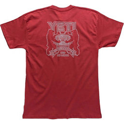 YETI Coat Of Arms Tee Mens T-Shirt, Brick Red, 256