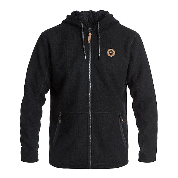 Quiksilver Into The Wild Zip-Up Fleece Mens Hoodie, , 600