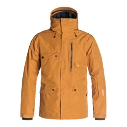 Quiksilver Northwood 2L GORE-TEX Mens Shell Snowboard Jacket, Pumpkin Spice, 256