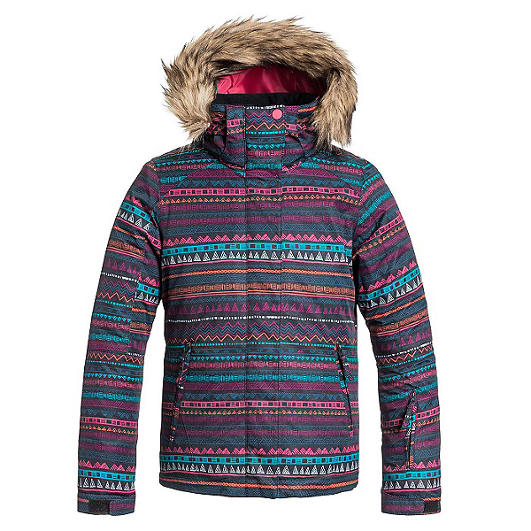Roxy American Pie w/ Faux Fur Girls Snowboard Jacket, , 600