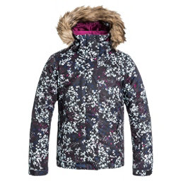 Roxy American Pie w/ Faux Fur Girls Snowboard Jacket, Ditsy Floral, 256