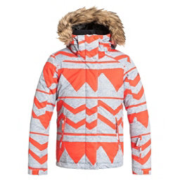 Roxy American Pie w/ Faux Fur Girls Snowboard Jacket, Damaris Nasturtium, 256