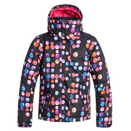 Roxy Jetty Girls Snowboard Jacket, Cosmic Dots, 256