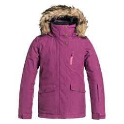 Roxy Tribe w/ Faux Fur Girls Snowboard Jacket, Magenta Purple, 256