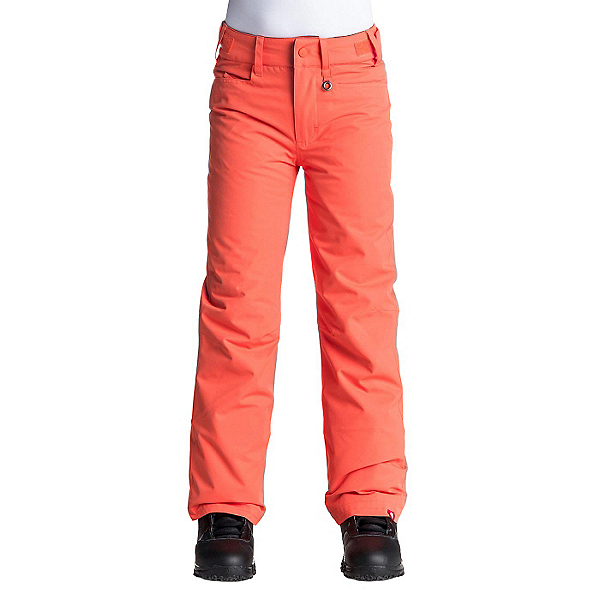 Roxy Backyard Girls Snowboard Pants, Nasturtium, 600