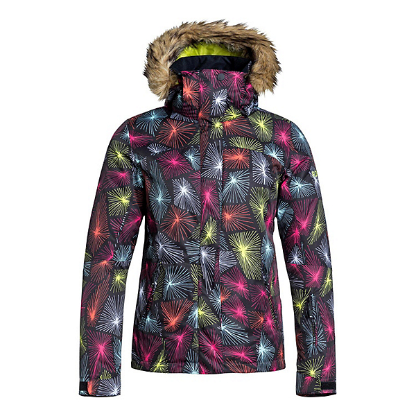Roxy Jet Ski w/Faux Fur Womens Insulated Snowboard Jacket, , 600