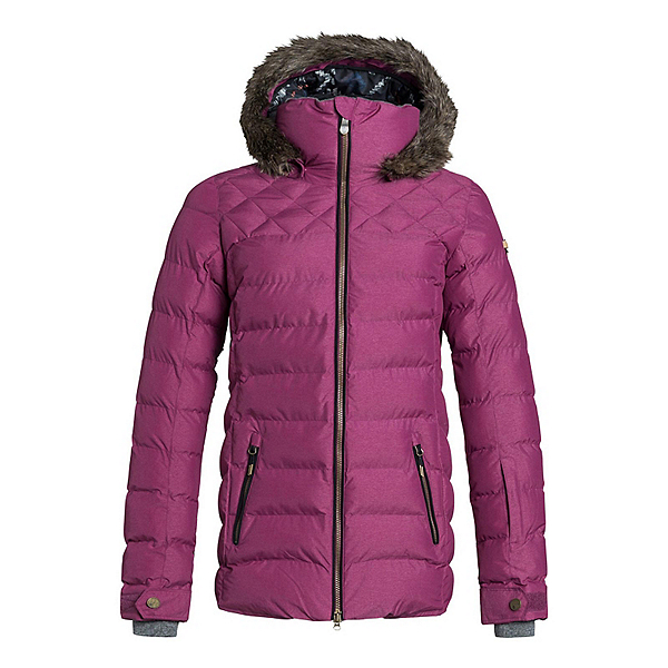 Roxy Quinn w/Faux Fur Womens Insulated Snowboard Jacket, , 600