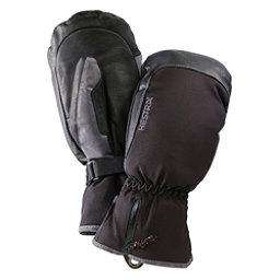 Hestra CZone Leather Mittens, Black-Grey, 256