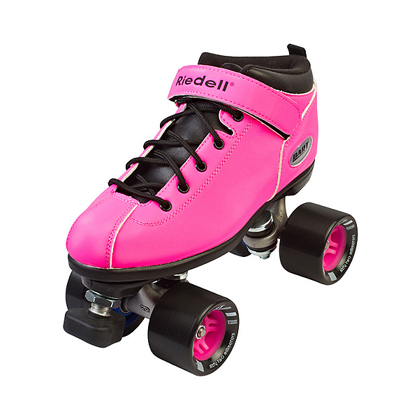 Riedell Dart Neon Pink Womens Speed Roller Skates, Neon Pink, 600