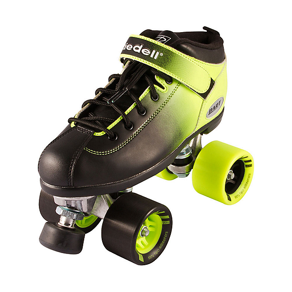 Riedell Dart Ombre Speed Roller Skates 2018, Neon Green, 600