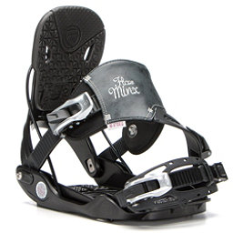 Flow Minx Hybrid Womens Snowboard Bindings, Black, 256