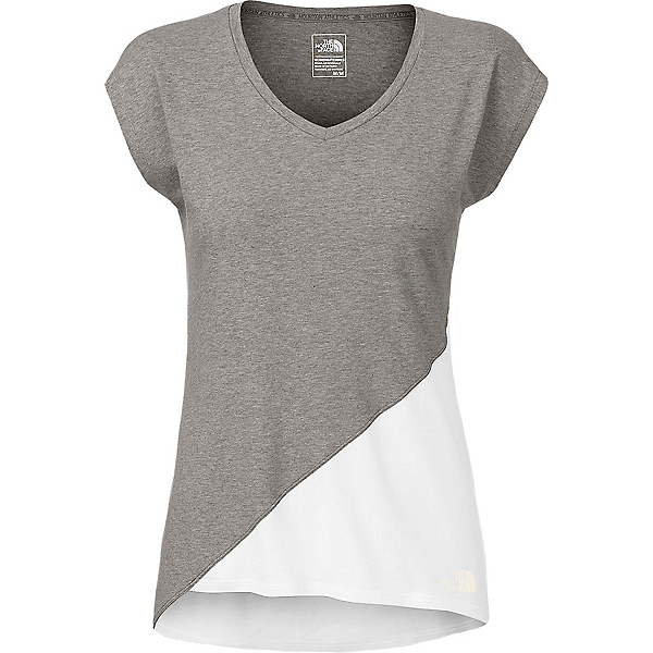 The North Face Nueva Womens T-Shirt (Previous Season), TNF Medium Grey Heather-TNF Wh, 600