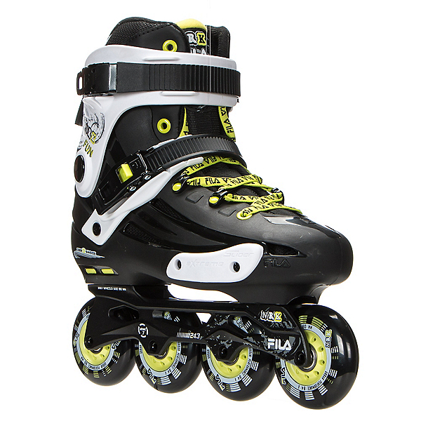 Fila Skates NRK Fun Inline Skates 2017, Black-Yellow, 600