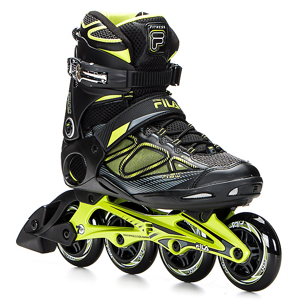 Fila Skates Primo Air Flow Inline Skates, Black-Lime, 600