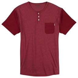Burton Dwight Short Sleeve Pocket Mens T-Shirt, Brick Red Heather, 256