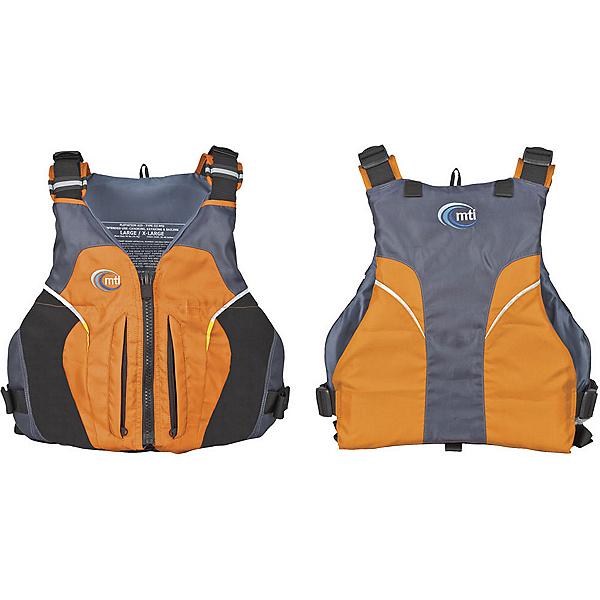 MTI Java Adult Kayak Life Jacket, Mango-Dark Gray, 600