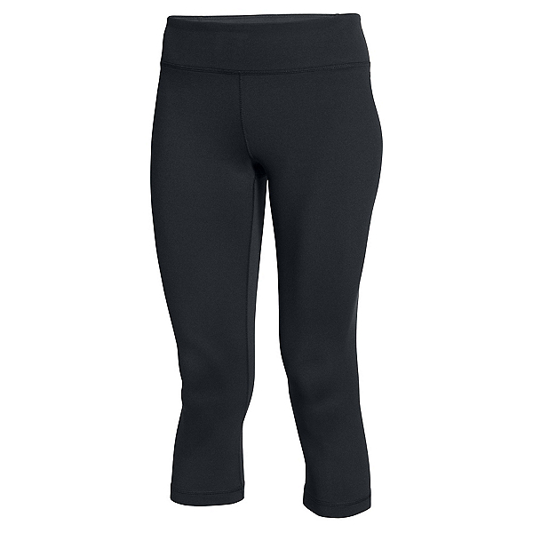 Under Armour Mirror Capri Womens Pants, Black-Silver, 600
