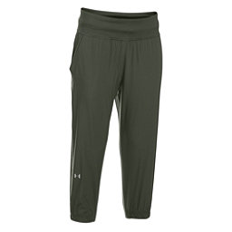 Under Armour HeatGear Sunblock 50 Womens Pants, Downtown Green-Metallic Silver, 256