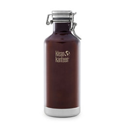 Klean Kanteen 32oz. Lok Cap Growler Insulated Water Bottle 2017, Dark Amber, 256