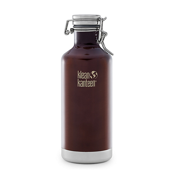 Klean Kanteen 32oz. Lok Cap Growler Insulated Water Bottle 2017, Dark Amber, 600