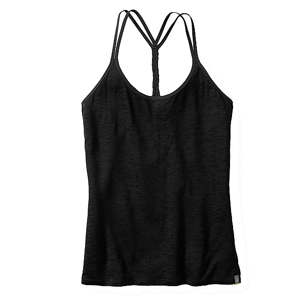 SmartWool Emerald Valley Womens Tank Top, Black, 600