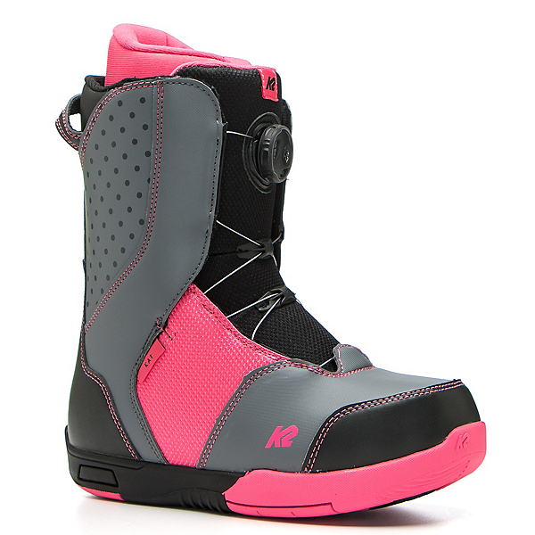 K2 Kat Girls Snowboard Boots, Black, 600