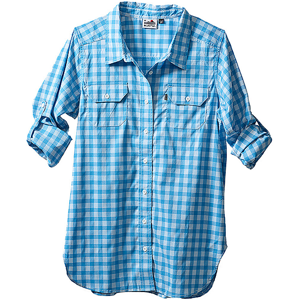 KAVU Wynonna Womens Shirt, River Blue, 600