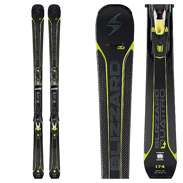 Blizzard Quattro 8.4 Ti Skis with Xcell 12 Bindings 2018, , 600