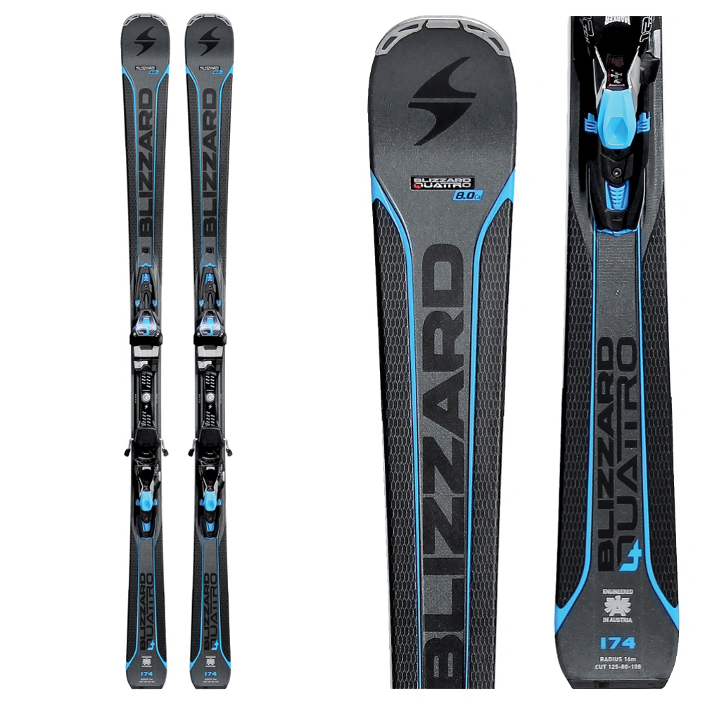 Blizzard Quattro 8.0 CA Skis with TP 10 Bindings