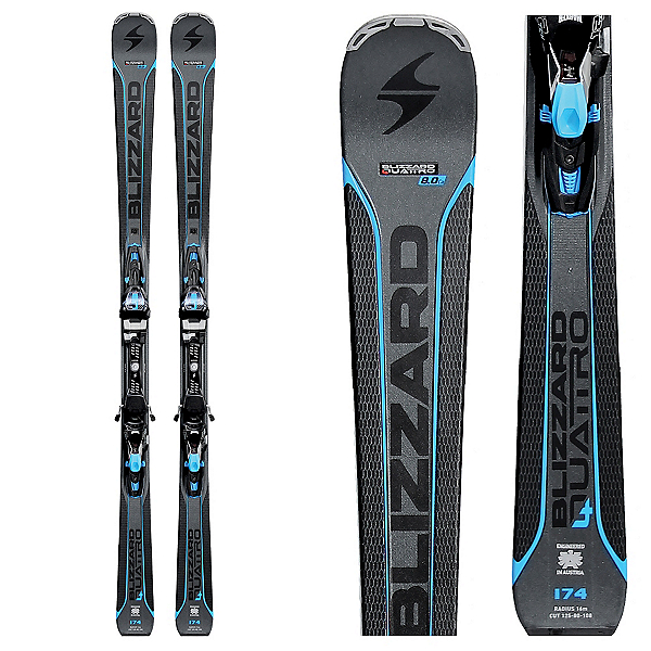 Blizzard Quattro 8.0 CA Skis with TCX 12 Bindings, , 600