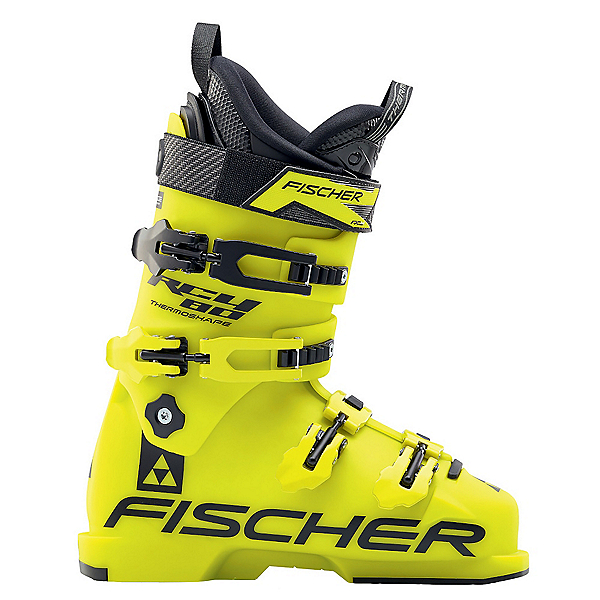 Fischer RC4 80 Junior Race Ski Boots, Yellow-Yellow, 600