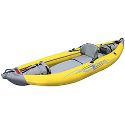 Advanced Elements StraitEdge Solo Inflatable Kayak 2017, Yellow-Gray, 256
