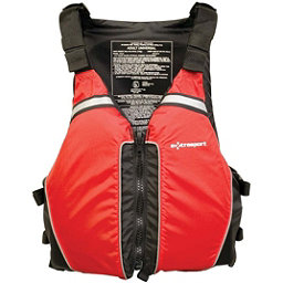 Extrasport Universal Adult Kayak Life Jacket 2017, Red-Black, 256