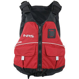 NRS Vista PFD Adult Kayak Life Jacket, Red, 256
